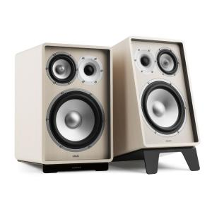 RETROSPECTIVE 1978 MKII - Three-Way Bookshelf Speaker Pair white/black White | No Cover | Black
