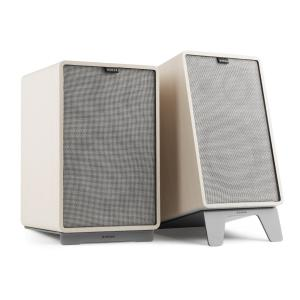 Retrospective 1978 MKII 3-Way Bookshelf Speaker white incl. grey Cover White | Grey | Grey