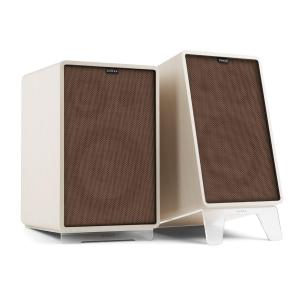 Retrospective 1978 MKII 3-Way Bookshelf Speaker white incl. brown Cover White | Brown | Transparent