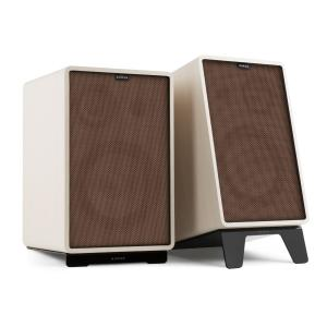 Retrospective 1978 MKII 3-Way Bookshelf Speaker white incl. brown Cover White | Brown | Black