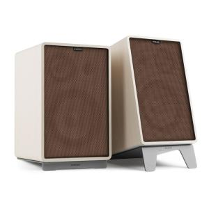 Retrospective 1978 MKII 3-Way Bookshelf Speaker white incl. brown Cover White | Brown | Grey
