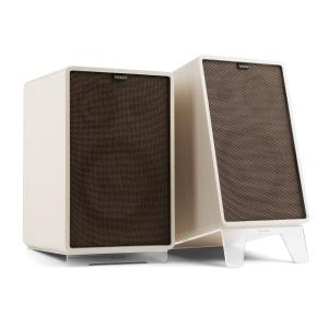 Retrospective 1978 MKII 3-Way Bookshelf Speaker white incl. dark brown Cover White | Black | Transparent