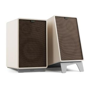Retrospective 1978 MKII 3-Way Bookshelf Speaker white incl. dark brown Cover White | Black | Grey