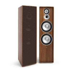 Retrospective 1977 MKII 3-Way Stand Speaker Walnut Cover Black-Brown Walnut | Black