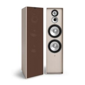 Retrospective 1977 MKII 3-Way Stand Speaker White Cover Brown White | Brown