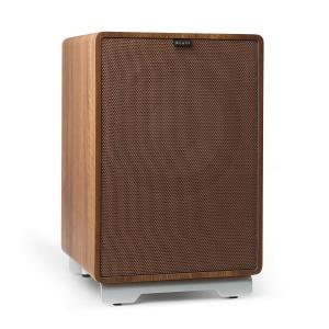 "RetroSub -Active Subwoofer 25.4 cm (10"") walnut incl. cover brown Walnut 