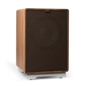 "RetroSub -Active Subwoofer 25.4 cm (10"") walnut incl. cover black-brown Walnut 