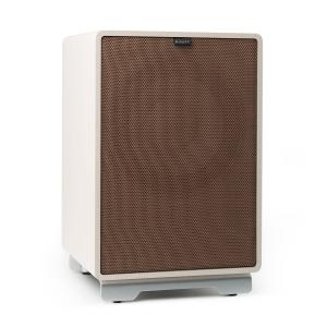 "RetroSub -Active Subwoofer 25.4 cm (10"") white incl. cover brown White 