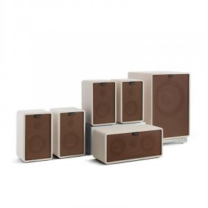 Retrospective 1979-S 5.1 Sound System White incl. Cover Brown White | Brown