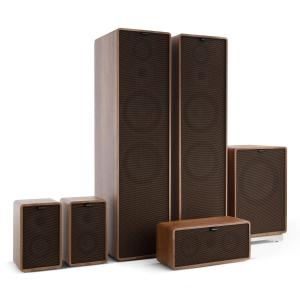 Retrospective 1977 MKII 5.1 Sound System Walnut incl. Cover Black-Brown Walnut | Black