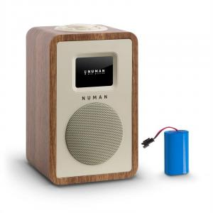 Mini One Design-Digitalradio Bluetooth DAB+ UKW AUX walnuss inkl. Akku Walnuss | Akku