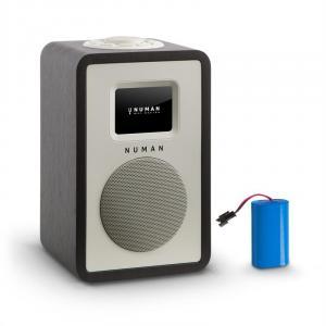 "Mini One Radio Digitale Di Design 2,4"" Display A Colori TFT Bluetooth DAB+ Nero nero   Akku"