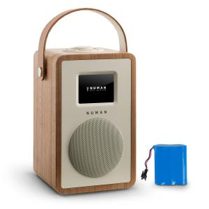 Mini Two Design Internet Radio WiFi DLNA Bluetooth FM walnut incl. Battery Walnut | Akku