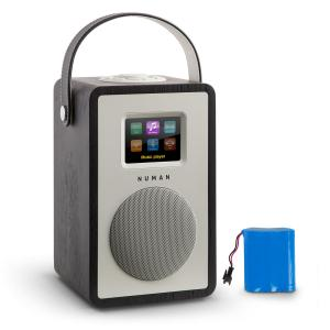 Mini Two Designerskie radio internetowe WiFi DLNA Bluetooth UKF kolor czar Czarny | Akku