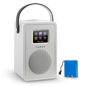 Mini Two Design Internet Radio WiFi DLNA Bluetooth FM white incl. Battery White | Akku