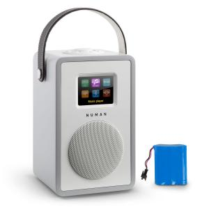 Mini Two Design Internet Radio WiFi DLNA Bluetooth FM greyincl. Battery Grey | Akku