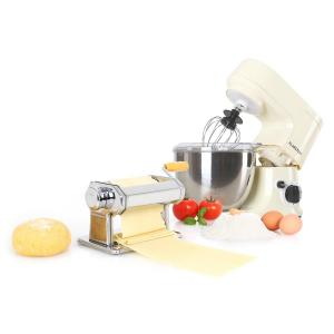 Carina Morena zestaw do produkcji makaronu: robot kuchenny 800 W i misa ze stali szlachetnej o pojemności 4 l