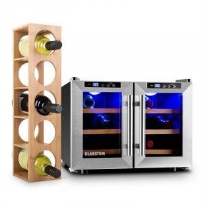 Reserva Saloon Wine Set 2-pc Wine Refrigerator Wine Rack