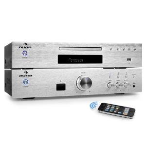 """Elegance Tower Bluetooth"" 2.0 Set HiFi Lecteur CD MP3 & Amplificateur 600W"