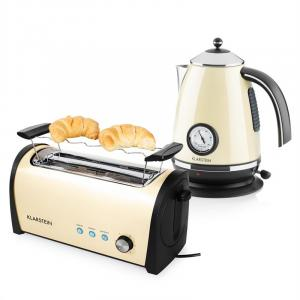 Cambridge Set de desayuno color crema | Hervidor de 1,7L 2200W |Tostadora de 1400W