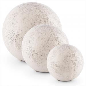 Gemstone Stenbelysnings-set 3 Klotljus 3 Storlekar Naturstensoptik