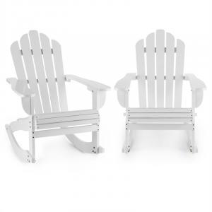 Rushmore Ogrodowe krzesło bujane 2 sztuki styl Adirondack kolor biały