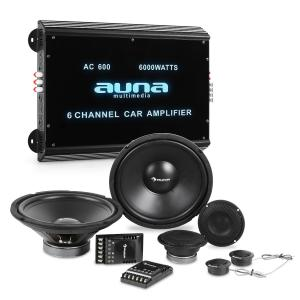 CS-Comp-12 Car-HiFi-Set | Sistema de Altifalantes | Amplificador 6 canais