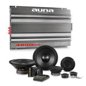 CS-Comp-8 Car HiFi Set 6-Channel Power Amplifier Speaker Set & 6-Channel Power Amplifier