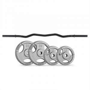 Weight Disc Curl Bar Set 30 kg | 4 Weights Curl Bar