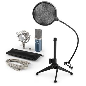 MIC-900BL USB Microphone Set V2 | Condenser Microphone | Pop shield| Tabletop Stand