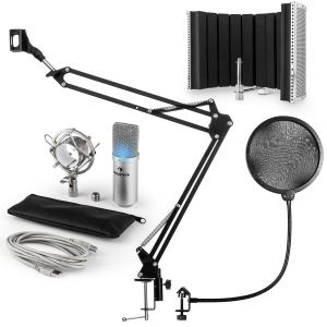 MIC-900S-LED USB kit micro V5 à condensateur filtre anti-pop et anti-bruit