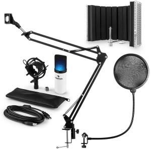 MIC-900WH-LED USB Kit micro V5 condensateur filtres anti pop et bruit blanc