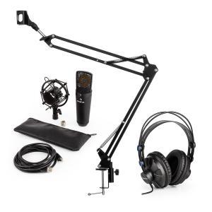MIC-920B USB V3 zestaw mikrofonowy słuchawki studyjne mikrofon pojemnościowy ramię sterujące do mikrofonu