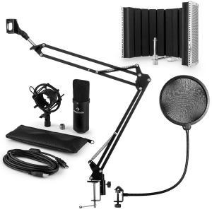 CM001B microfoonset V5 condensatormicrofoon arm plopbescherming scherm - zwart