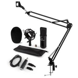 CM001B Mikrofon-Set V3 Kondensatormikrofon USB-Adapter Mikrofonarm schwarz