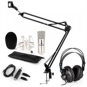 CM001S Zestaw mikrofonowy V3 słuchawki mikrofon adapter USB ramię mikrofono