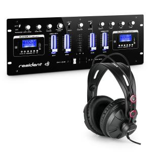 DJ405USB-BK 4-kanaals DJ mengpaneel incl. studio koptelefoon