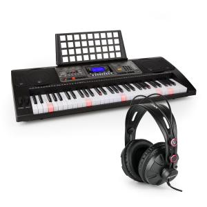 Etude 450 USB Inlärnings-keyboard med Hörlurar 61 Tangenter USB-MIDI-Player LCD