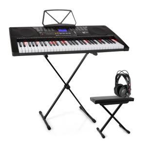 Etude 225 USB Teclado de aprendizaje Juego de auriculares, soporte de teclado y banco