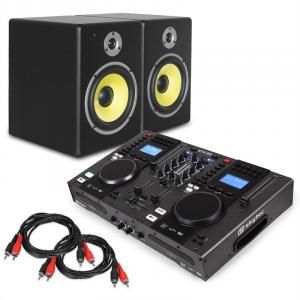 "DJ Set ""Starter Control"" DJ Controller SpeakerSet 2x Cinch Cable"