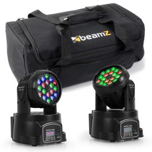 Set Efeitos de Luz com Mala P/ Transporte 2x LED-108 Moving Head & 1x Soft Case