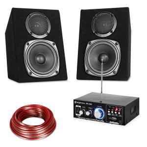 Set Hifi Stereo Sound USB SD MP3 - 30 Watt