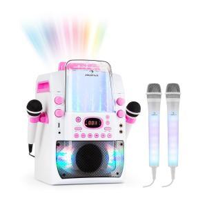 Kara Liquida BT vaaleanpunainen + Dazzl Mic Set karaokelaite mikrofoni LED-valo