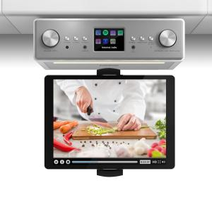 Connect Soundchef Radio de cuisineDAB+ FM + support de tablette - blanc Blanc | Support pour tablette inclus