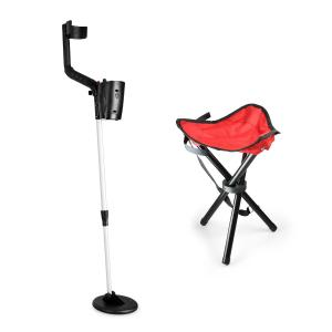 Basic Red Gold Finder Set | Metal Detector + Stool Red
