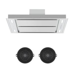 Secret Service Cooker Extractor Hood Recirculation Set Activated Carbon Filter Stainless Steel Brushed stainless steel