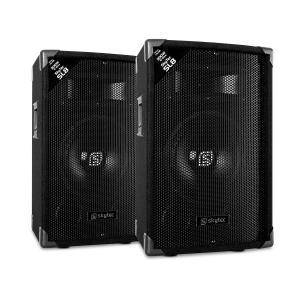 """SL8 kolumny pasywne para 8'' woofer maks. 200W/ moc szczytowa 400W 2-drożne bass-reflex horn piezo Para głośników 8"""" (20 cm)"""
