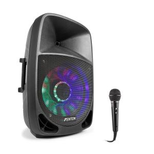 FT1500A Active Speaker Set 350W Bluetooth with Microphone Black
