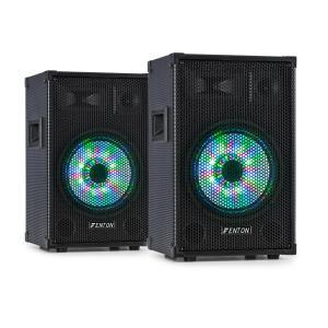 """Fenton FT10LED 3-drożne kolumny pasywne para RGB-LED 10-calowy woofer 500 W tweeter Para głośników 10"""" (25 cm)"""