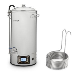 Mundschenk + dompelkoeler bierbrouwinstallatie 3000W 50L 304 rvs